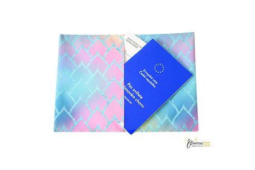 Document case - softshell - geometric pattern