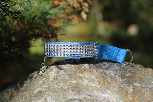 Small blue decorated collar