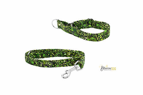 Collar with bubble pattern - green