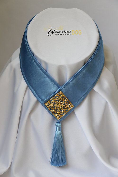 Collar for finals - blue with metal plate