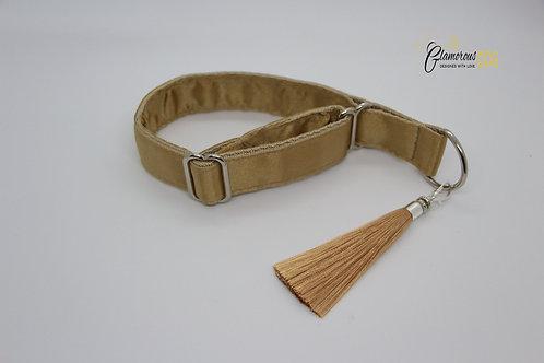 Golden collar with tassel