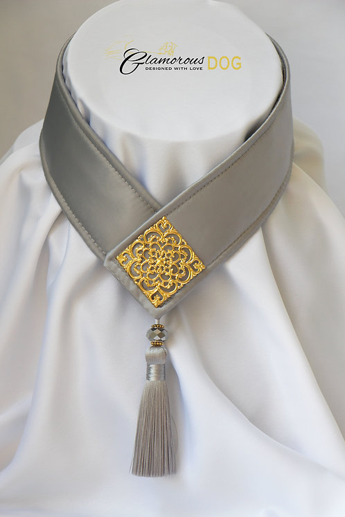 Collar for finals - grey with metal plate