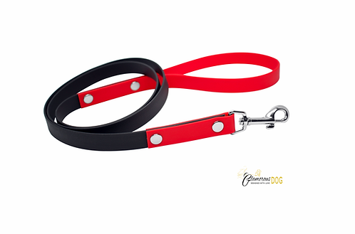 Leash black with red from BioThane