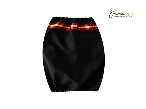 Fabric snood - black with stripe