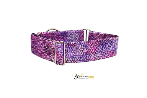 Adjustable collar purple snake with the possibility of a leash