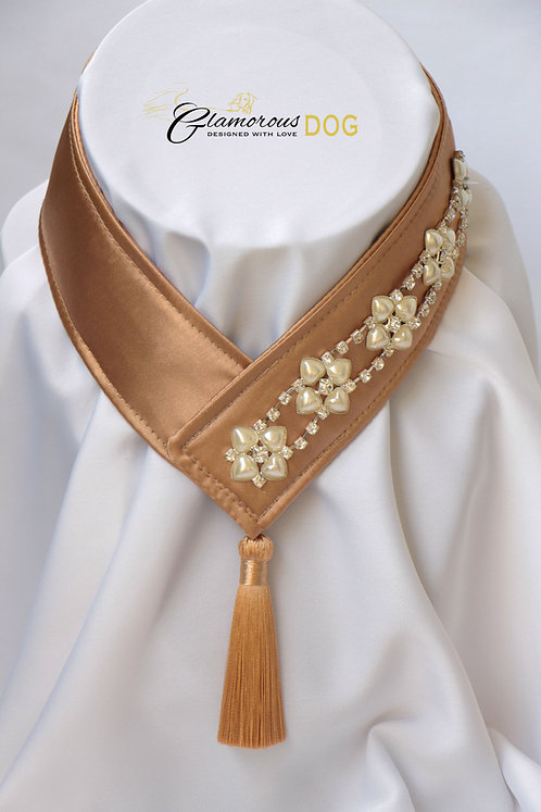 Collar for finals - cappuccino with chain