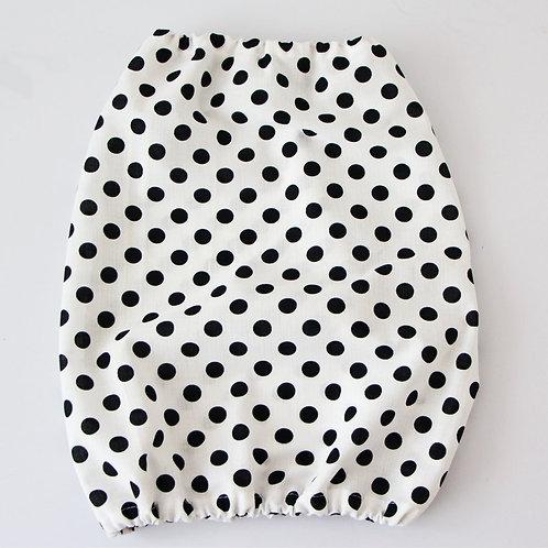 Fabric snood - black dots