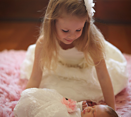 Sisters | Orlando newborn pictures