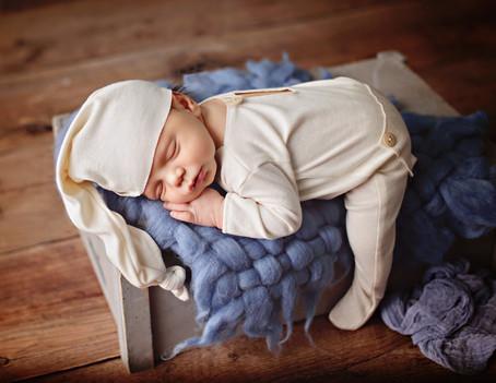 Sweet baby Luca at 7 days