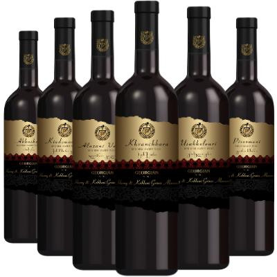 Georgian Wine 6 Mixed Case Semi Sweet Red