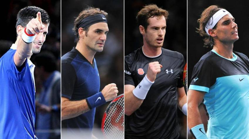 djokovic, federer, murray and nadal