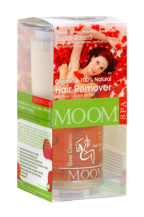 MOOM Organic Hair Removal Kit with Rose Essence Spa Formula