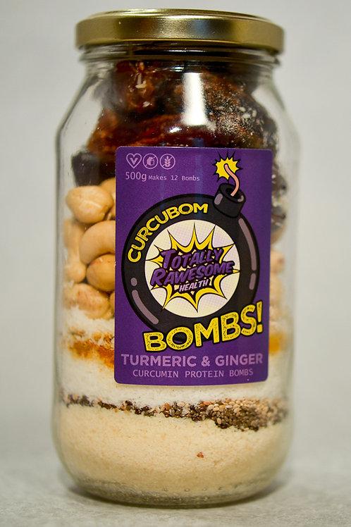 Turmeric and Ginger Curcubom Bombs