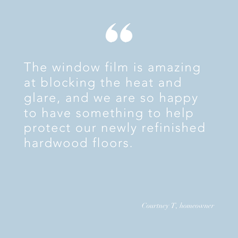 Quote from homeowner with tint