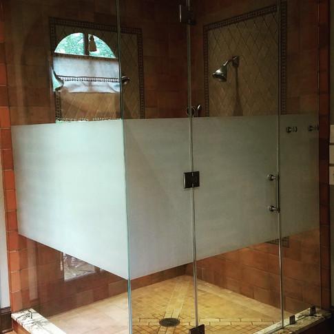 Shower Glass Privacy Film