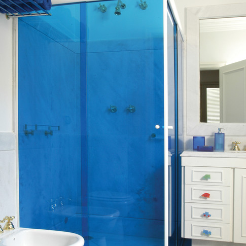 Blue Decorative Window Film
