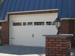 Cedo porte de garage Rustique blanc 4 quadruple