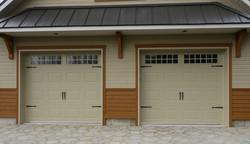Cedo porte de garage Rustique Ivoire garage