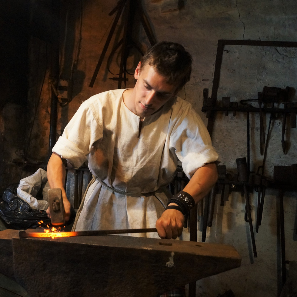 Blacksmith in Fredrikstad.