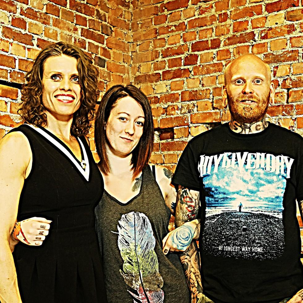 Tattoo artists Ida Abotsnes, Heidi Brynildsen & Espen Mørken