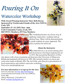 Watercolor Workshop Flier