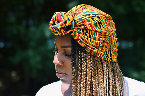 Kente Print Headwrap