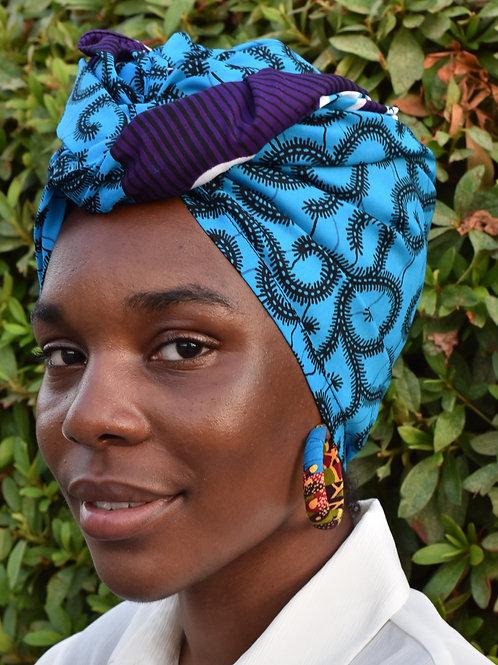 Blue Swirl Headwrap