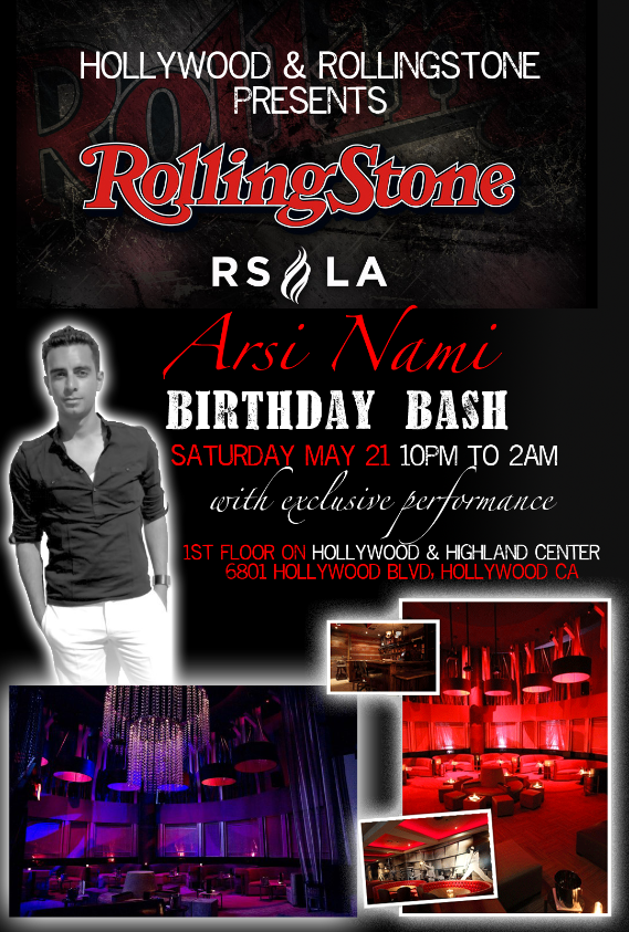 Flickr - Arsi Nami Performance & Birthday Bash at RollingStone Los Angeles