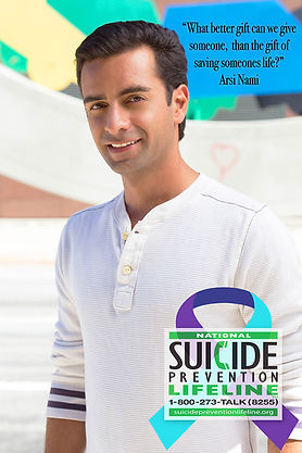 Arsi Nami promo Suicide Prevention Lifeline