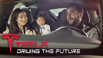 Arsi Nami in a Tesla Commercial