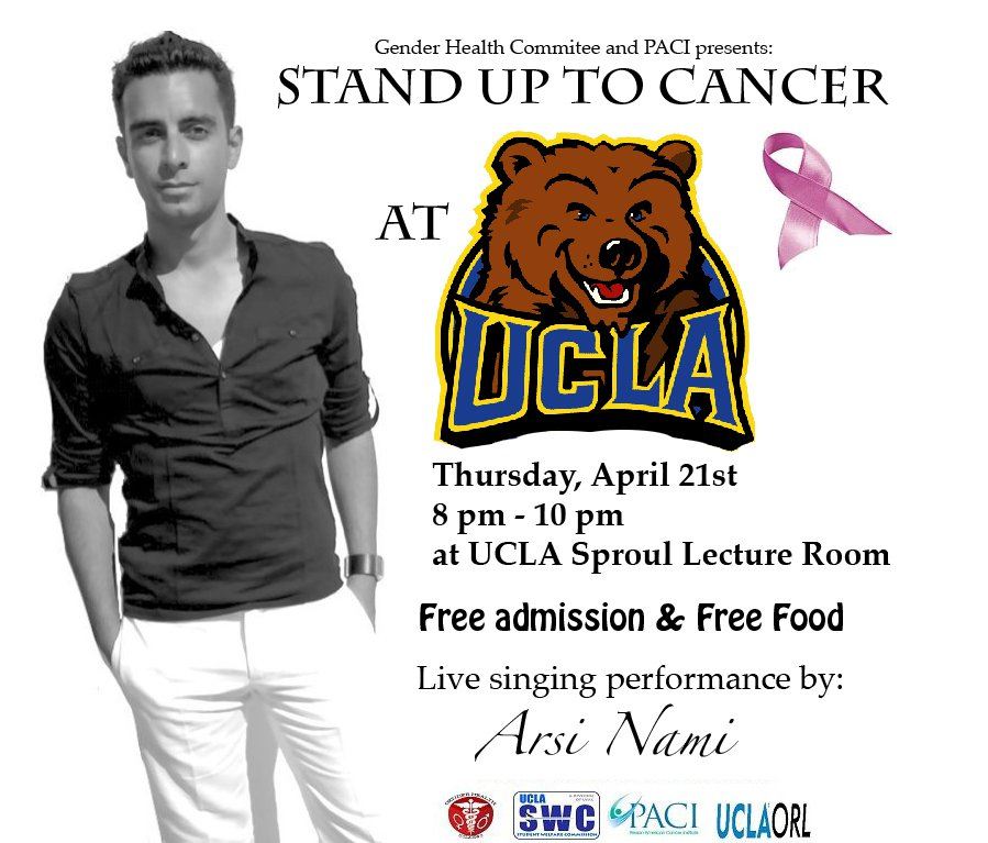Arsi Nami Stand UP To Cancer UCLA