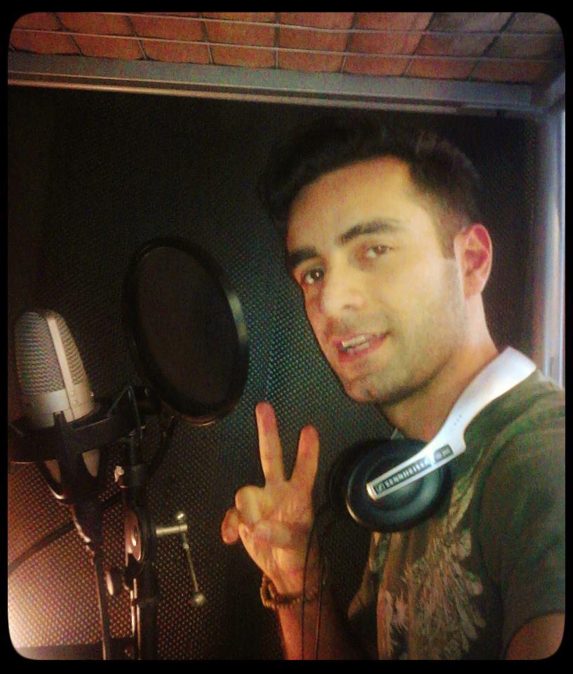 "Flickr - Arsi Nami recording Italian song ""Caro Mio Ben"""
