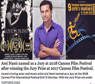 Arsi Nami Judge in Cannes Film Festival