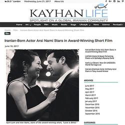 Arsi Nami in Kayhan London News