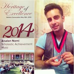 Arsi Nami Music Honors CSUN
