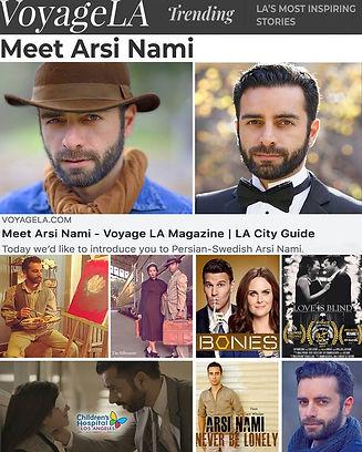 Arsi Nami in Voyage LA