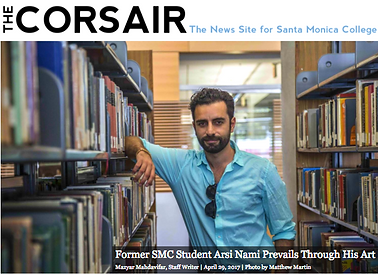 Arsi Nami in Corsair news paper Santa Monica