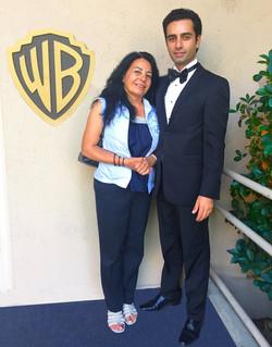 Arsi Nami and his mother at Warner B