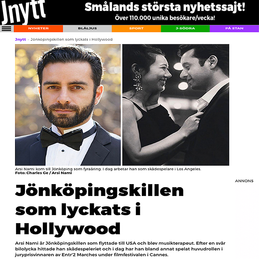 Arsi Nami in Sweden Newspaper