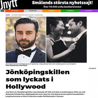 Arsi Nami in Swedens News paper J NEWS J NYTT