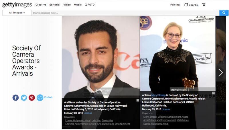 Arsi Nami & Meryl Streep @ SOC award