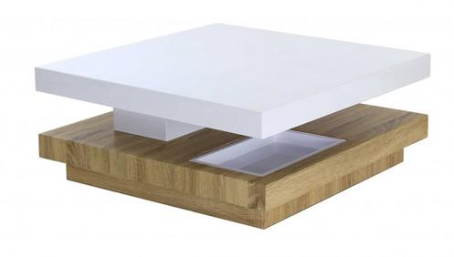 Table Basse Carree Pivotante Avec Rangements
