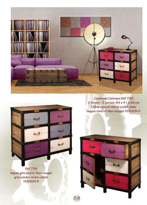 commode clairvaux 2 tiroirs 2 portes mise en scene magasins de mobilier et meubles design. Black Bedroom Furniture Sets. Home Design Ideas