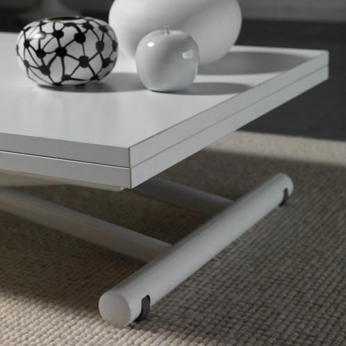 Table basse relevable extensible LIFT WOOD blanche | MISE EN SCENE ...