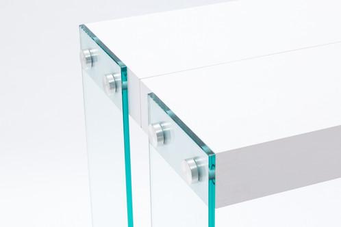 haut de gamme italien console iceberg extensible mise en scene magasins de mobilier et. Black Bedroom Furniture Sets. Home Design Ideas