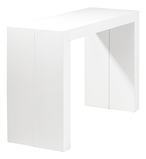 table console extensible laque blanche - Table Console Extensible Blanc Laque