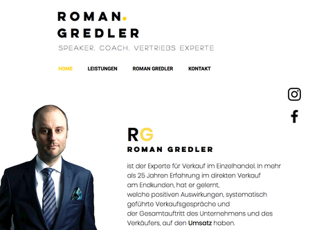 Roman Gredler - Speaker, Coach, Vertriebsexperte