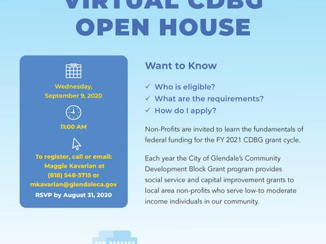 Virtual CDBG Open House