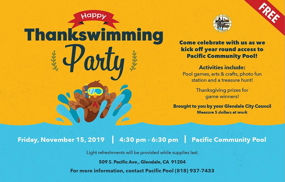 Happy Thankswimming Flyer