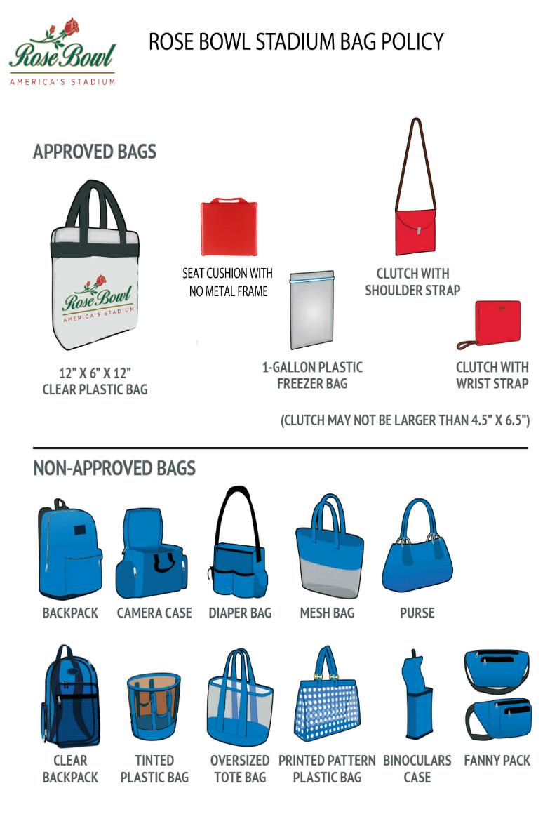 Rose Bowl Bag Policy